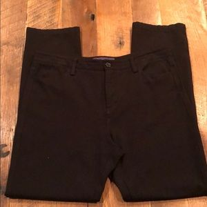 NYDJ black stretchy straight leg pants